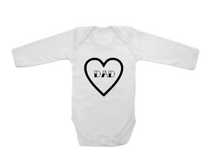 Dad Heart Bodysuit Long Sleeve 6-9 months