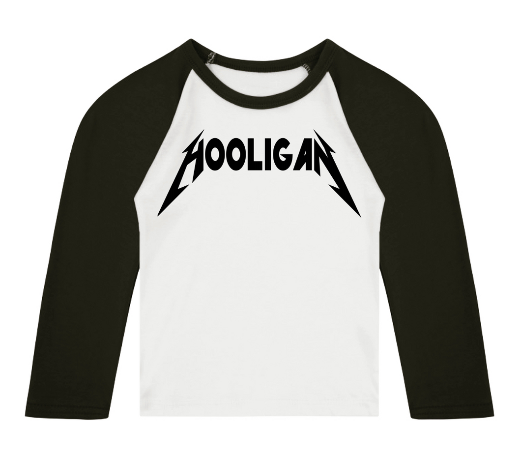 HOOLIGAN 3/4 length sleeve Raglan t-shirt