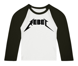REBEL 3/4 length sleeve Raglan t-shirt