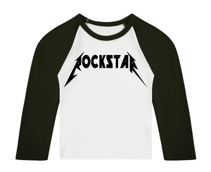 ROCKSTAR 3/4 length sleeve Raglan t-shirt