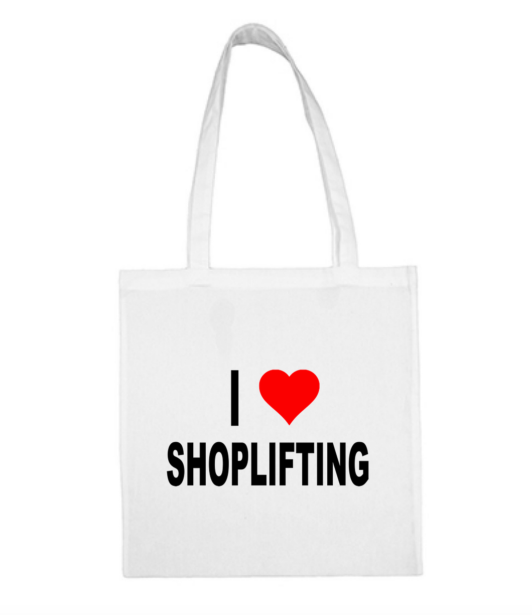 I ❤️ SHOPLIFTING tote bag
