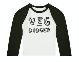 Veg Dodger 3/4 length sleeve Raglan T-Shirt