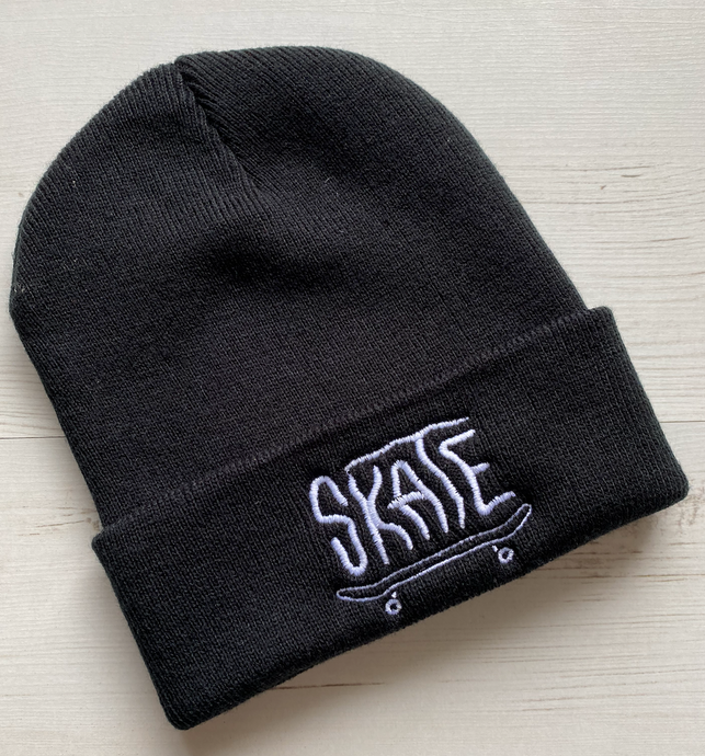 Embroidered Beanies - SKATE