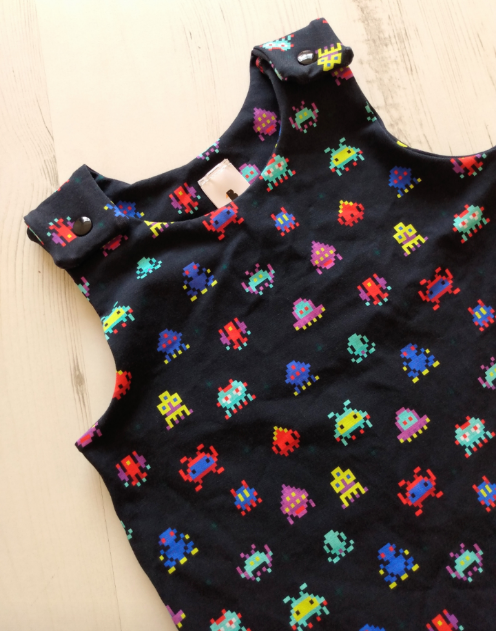 Space Invaders Romper