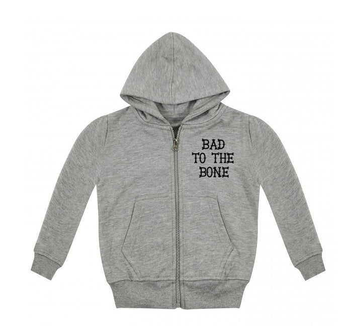 Bad To The Bone Zip Up Hoodie
