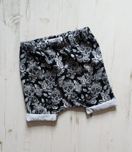 Monochrome Sugar Skulls Shorts