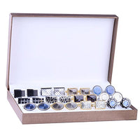 BodyJ4You Cufflink 12 Pairs Two Tone Classy Stylish Men's Cuff Links Elegant Gift Box