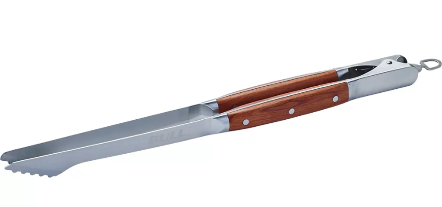 Bull BBQ - Grill Master Hardwood Long Handled Tongs
