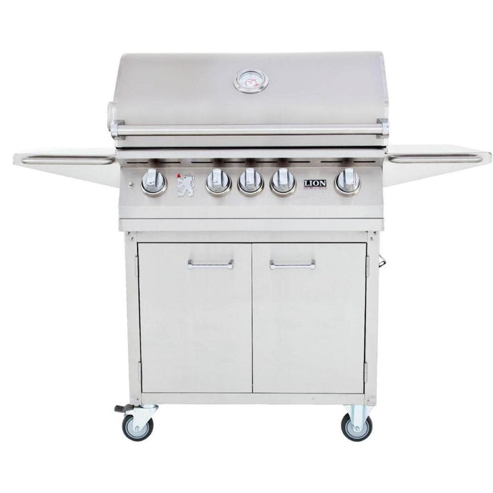 Lion 32-Inch Stainless Steel Freestanding Grill