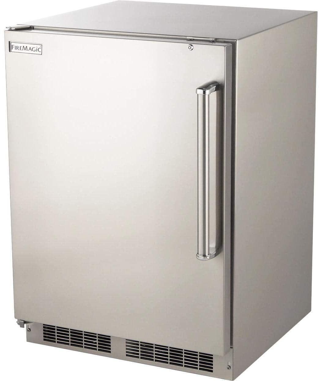 Fire Magic - Outdoor Rated Refrigerator with SS Squared Edge Premium Door (Left Hinge)