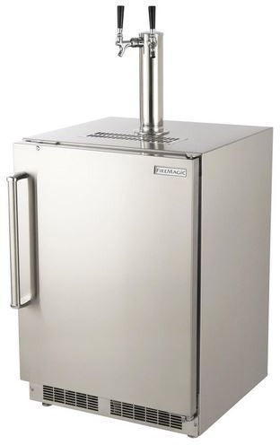 Fire Magic - Outdoor Rated Kegerator with SS Squared Edge Premium Door (Right Hinge)