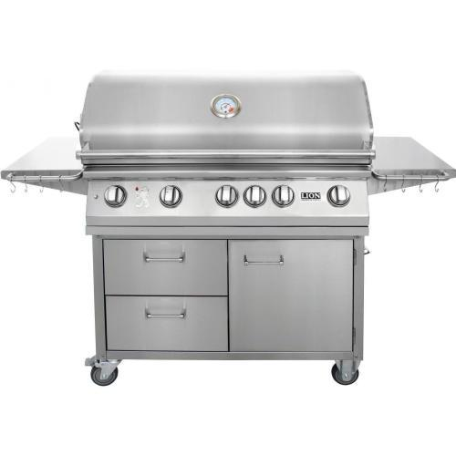 Lion 40-Inch Stainless Steel Freestanding Grill