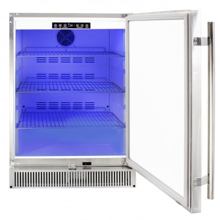 "Outdoor rated stainless 24"" fridge 5.2"