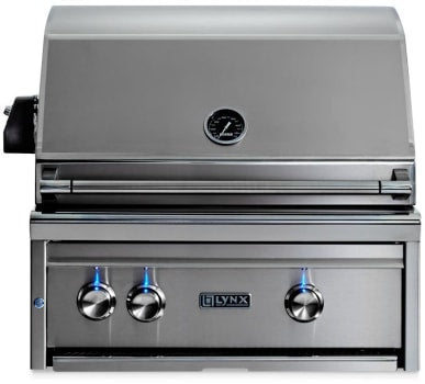 "27"" Built-In Grill w/ Rotisserie, NAT GAS"