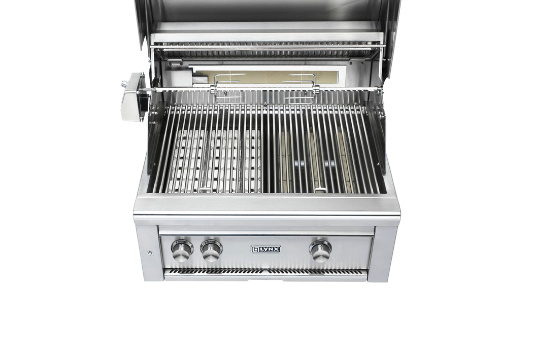 "30"" Built-In Grill - 1 Trident™ w/ Rotisserie, NAT GAS"