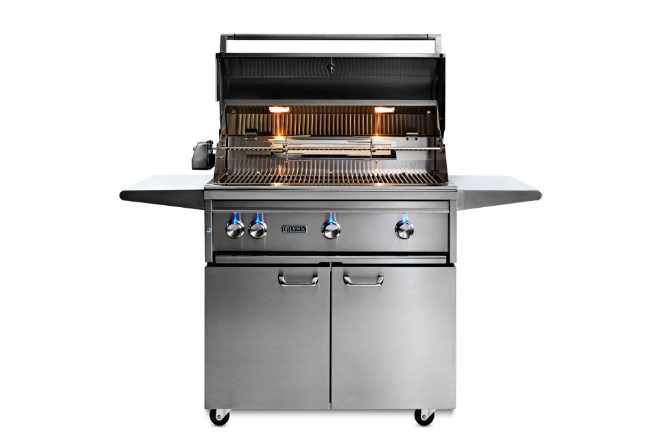"36""  Freestanding Grill - All Trident™ w/ Rotisserie, NAT GAS"