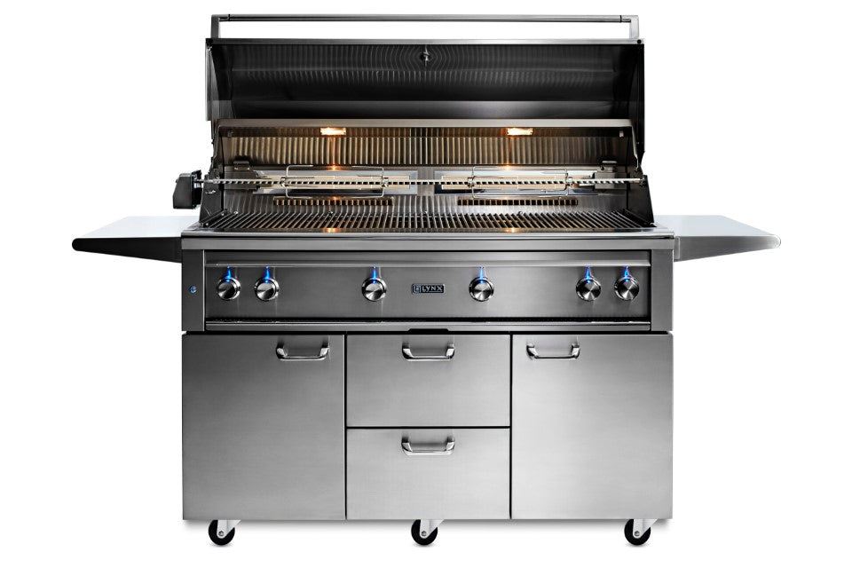 "54"" Freestanding Grill - 1 Trident™ w/ Rotisserie, NAT GAS"