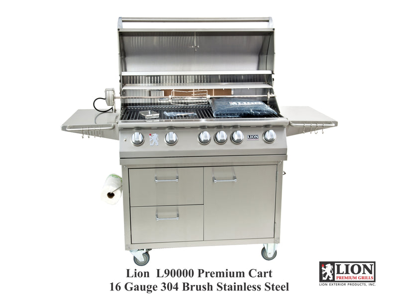 "Lion 40"" Grill Cart Only w/ towel rack"