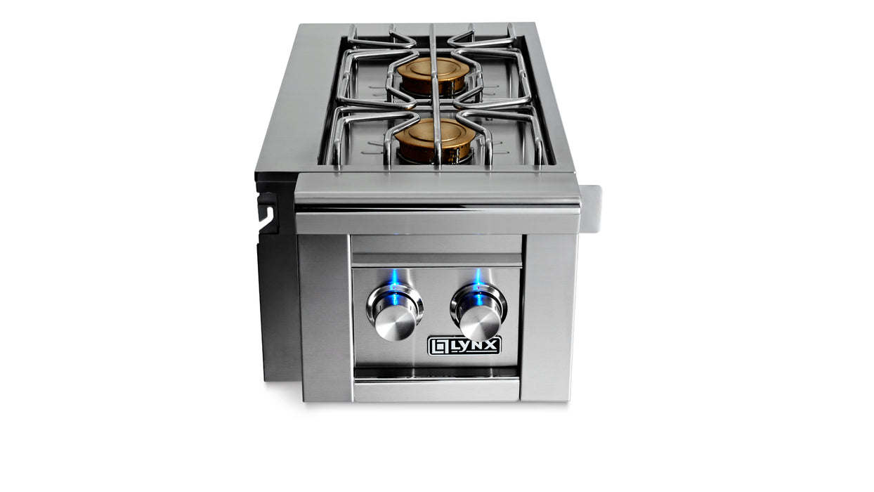 Cart Mounted Double side burner -fits all grill sizes, NAT GAS