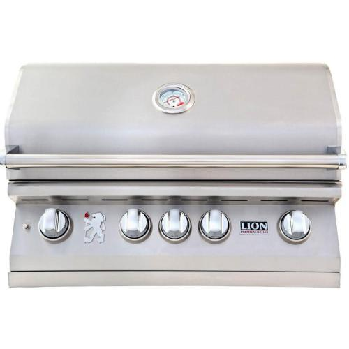 "Lion 32"" Stainless Steel Built-in BBQ Grill"