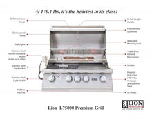 "Load image into Gallery viewer, Specifications of Lion 32"" Stainless Steel Built-in BBQ Grill"