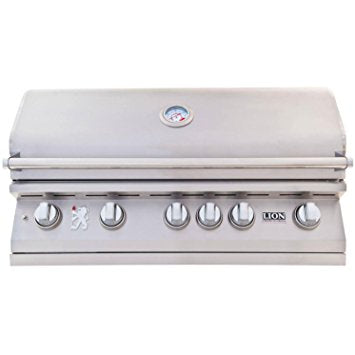 "Lion 40"" Stainless Steel Built-in BBQ Grill"