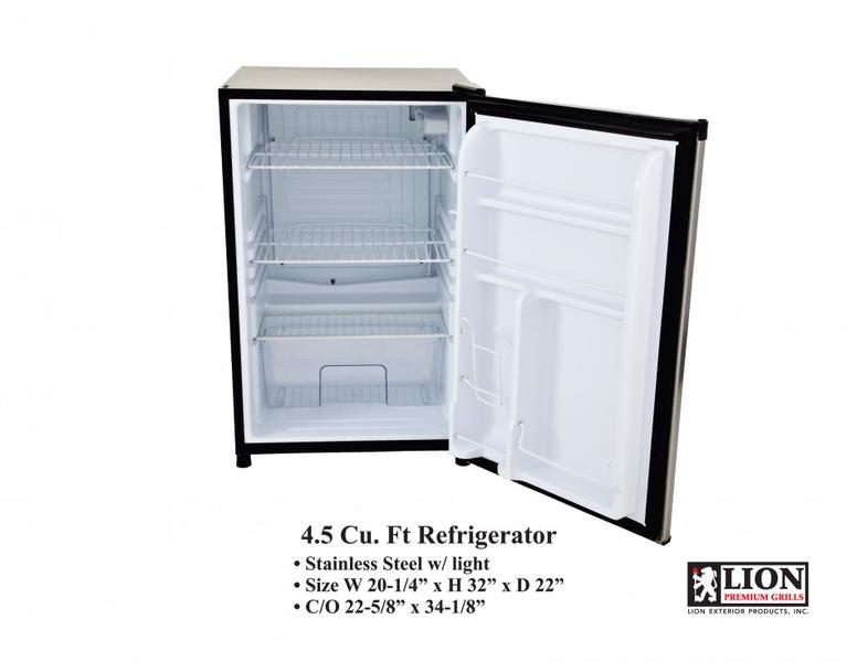 Lion Refrigerator 4.5 Cubic Ft open