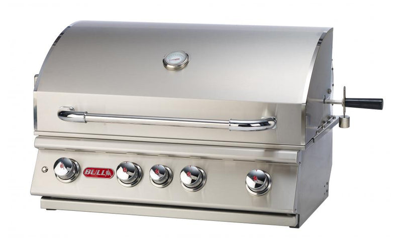 The Angus grill head is a 4-Burner 30'' stainless steel built-in gas barbecue grill with an Infrared back burner.