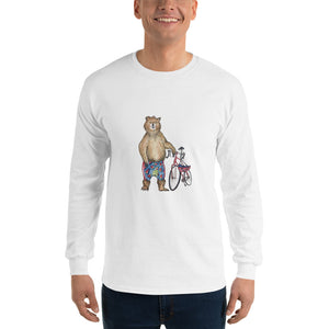 Long-Sleeve Unisex T-Shirt - 'Murph With His Bike.'