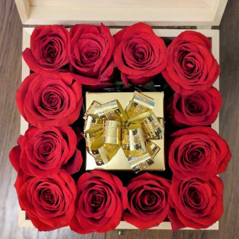Red Roses & Chocolate Box