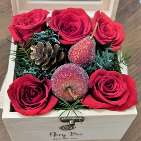 Christmas Roses Mini Box