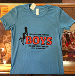Here For The Boys Women's Short Sleeve Shirt