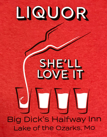 Big Dick's Liquor Love It Tri-Blend