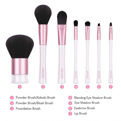 7 Pieces Mermaid Makeup Brush Set - M0107 - Beautyboutique.no