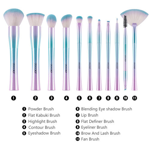 11 Pieces Fantasy Makeup Brush Set Series 2 - DB1102 - Beautyboutique.no