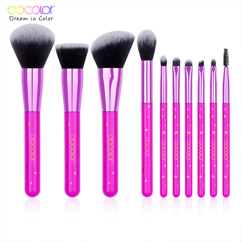 10 Pieces Lavender Star Makeup Brush Set - P1001 - Beautyboutique.no