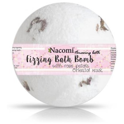 Fizzing Bath Bomb Oriental Musk with Rose Petals - Beautyboutique.no