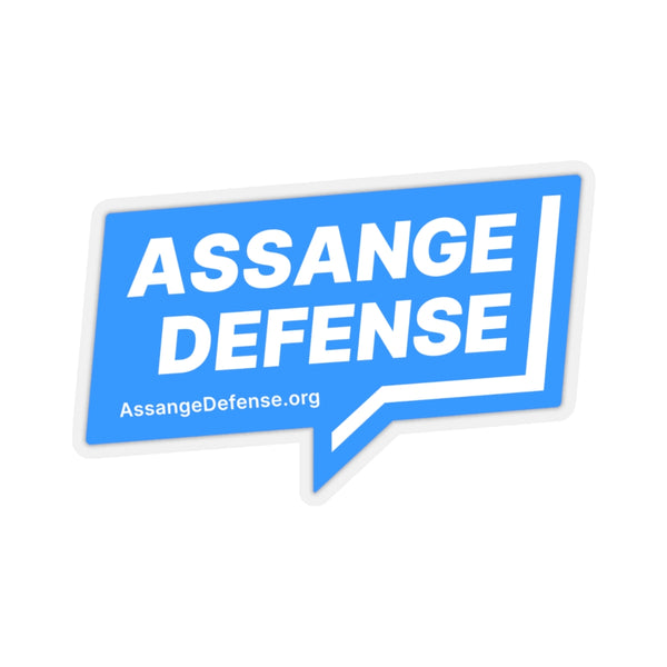 Blue Laptop Stickers - Assange Defense