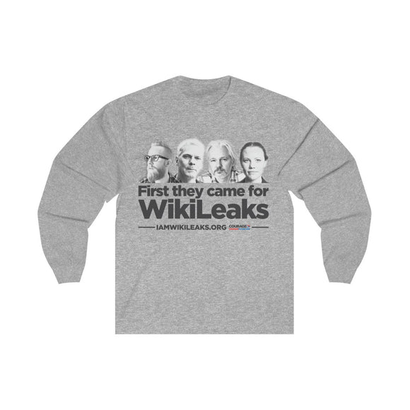 First They Came for WikiLeaks - Unisex Long Sleeve Tee