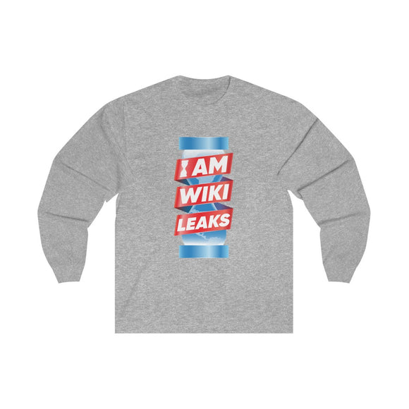 I am WikiLeaks - Unisex Long Sleeve Tee