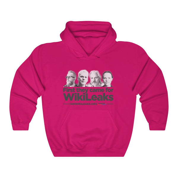 First They Came for WikiLeaks - Hooded Sweatshirt