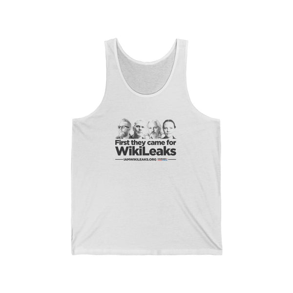 First They Came for Wikileaks - Unisex Jersey Tank
