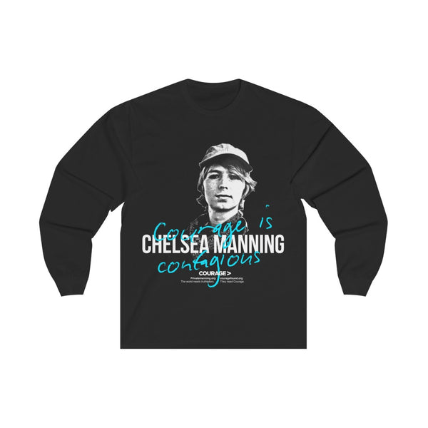 Chelsea Manning - Courage is Contagious - Unisex Long Sleeve Tee