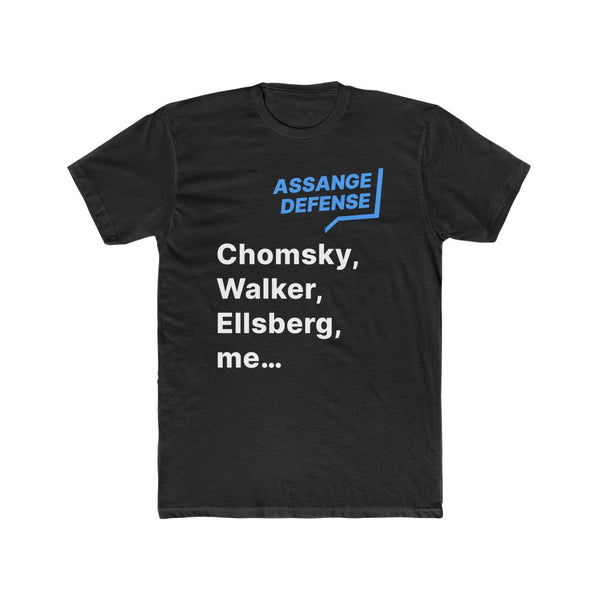 ASSANGE DEFENSE — Chomsky, Walker, Ellsberg, me…  (Men's Tee)