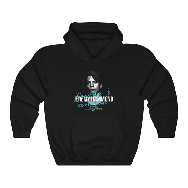 Jeremy Hammond - Courage is Contagious - Hooded Sweatshirt