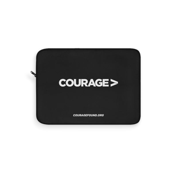 Couragefound.org - Black Laptop Sleeve