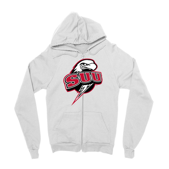 Official NCAA Southern Utah University Thunderbirds - RYLUSO06 Mens / womens Boyfriend Zip Hoodie