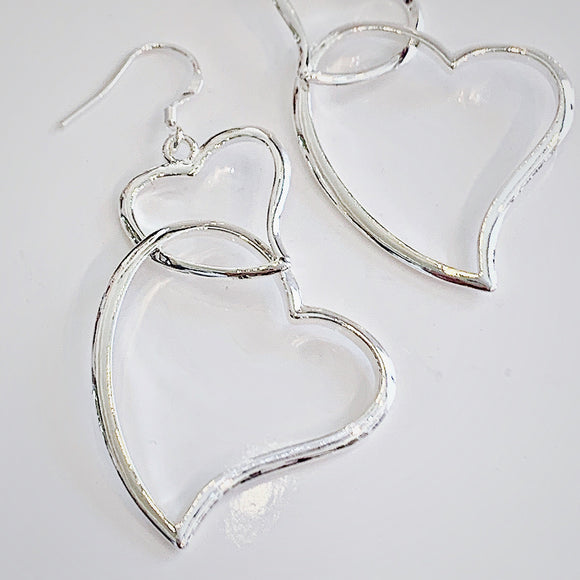Jane Sterling Silver Heart Earrings