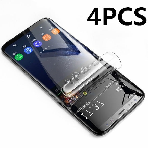 4Pcs 3D HD Full Cover Screen Protector PET Soft Film For Samsung Galaxy S6 Edge & Plus S7 Edge S8 S9 Plus Note8 Note9 Protective