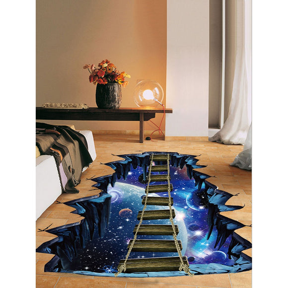 3D Galaxy Floor Sticker